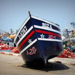 Maroc - Le bateau sur le port