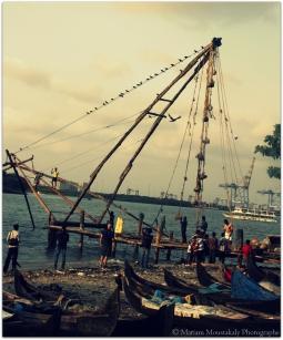 Inde - Filets de pêche chinois